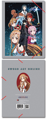 Sword Art Online Group Elastic Band Document Folder, an officially licensed product in our Sword Art Online Stationery department.