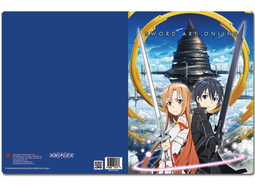 Sword Art Online Asuna & Kirito Pocket File Folder, an officially licensed product in our Sword Art Online Stationery department.
