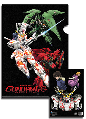 Gundam Uc Group Ms File Folder (5 Pcs/set) officially licensed product at B.A. Toys.