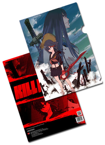 Kill La Kill - Ryuko & Satsuki File Folder officially licensed Kill La Kill Stationery product at B.A. Toys.