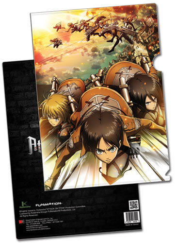 Attack On Titan - Regiment Attack File Folder (5 Pcs/Pack), an officially licensed Attack On Titan product at B.A. Toys.