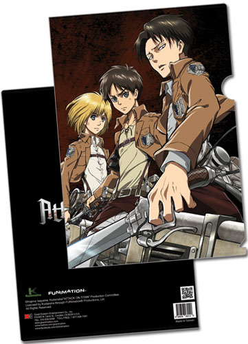Attack On Titan - Eren, Levi & Armin File Folder (5 Pcs/pack), an officially licensed Attack on Titan Binder/ Folder