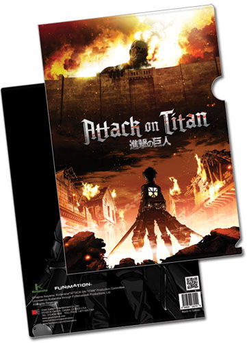 Attack On Titan - Key Art File Folder (5 Pcs/pack), an officially licensed Attack on Titan Binder/ Folder