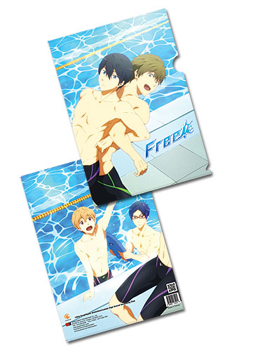 Free! - Poolside File Folder (5 Pcs / Pack), an officially licensed product in our Free! Binders & Folders department.