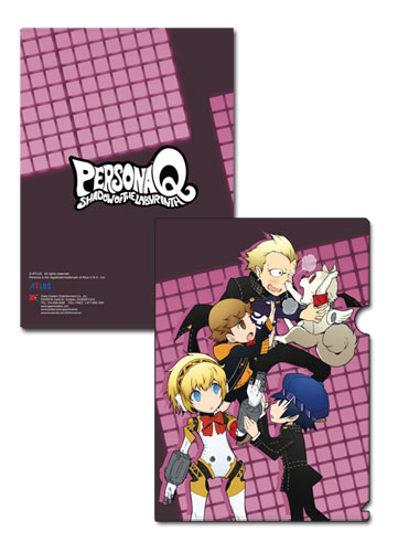 Persona Q - Kanji, Amada, Naoto & Aigis File Folder, an officially licensed product in our Persona Binders & Folders department.