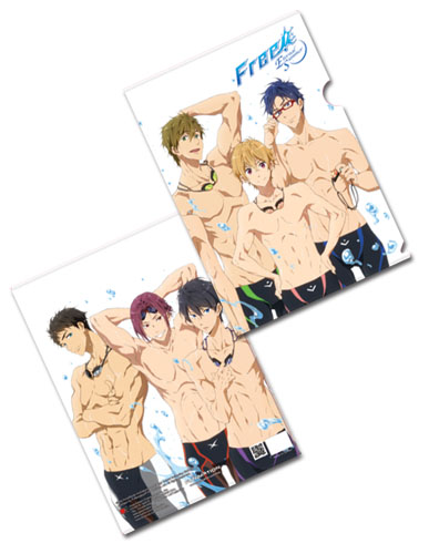 Free! - Line - Up File Folder, an officially licensed product in our Free! Binders & Folders department.