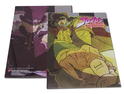 Jojo - Jonathan And Dio File Folder officially licensed Jojo'S Bizarre Adventure Stationery product at B.A. Toys.