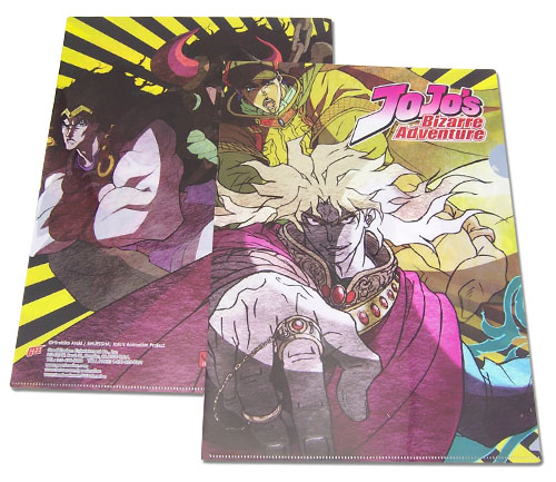 Jojo - Group Yellow Background - File Folder, an officially licensed product in our Jojo'S Bizarre Adventure Binders & Folders department.