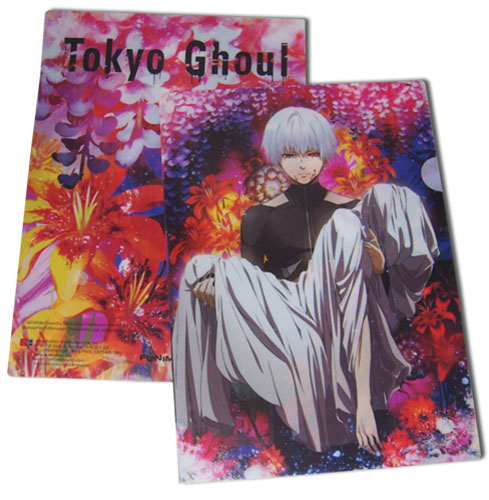 Tokyo Ghoul - Kaneki Floral File Folder officially licensed Tokyo Ghoul Stationery product at B.A. Toys.