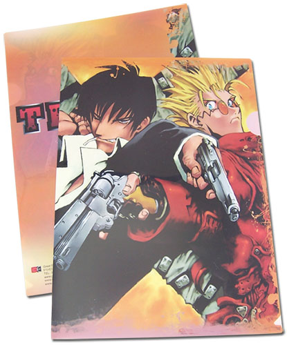 Trigun - Vash & Nicholas File Folder, an officially licensed product in our Trigun Binders & Folders department.