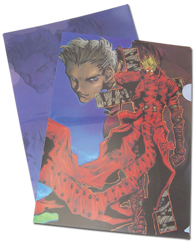 Trigun - Knives Million & Vash File Folder officially licensed Trigun Stationery product at B.A. Toys.