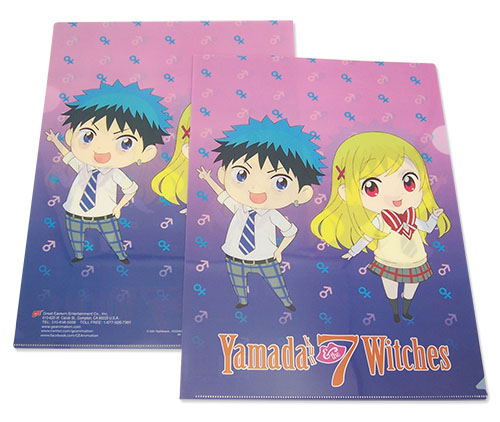 Yamada Kun - Ryu & Urara File Folder, an officially licensed product in our Yamada-Kun And The Seven Witches Binders & Folders department.