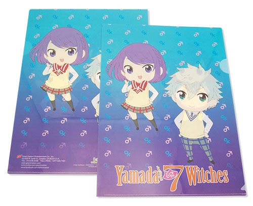 Yamada Kun - Toranosuke & Rene File Folder, an officially licensed product in our Yamada-Kun And The Seven Witches Binders & Folders department.