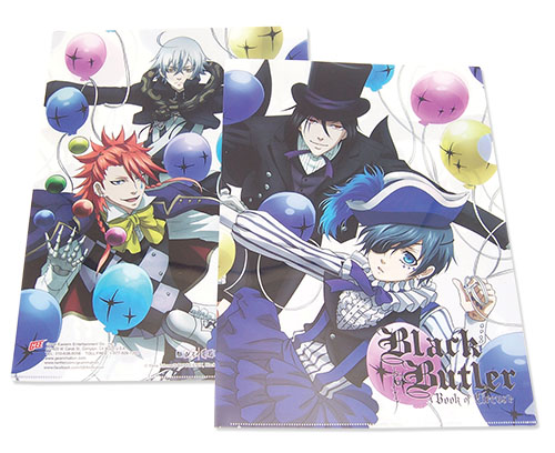 Black Butler B.o.c. - Balloon File Folder officially licensed Black Butler Book Of Circus Binders & Folders product at B.A. Toys.
