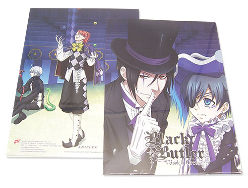 Black Butler Boc - Group File Folder, an officially licensed product in our Black Butler Book Of Circus Binders & Folders department.