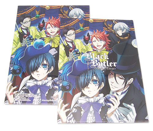Black Butler B.O.C. - Circus Group File Folder, an officially licensed product in our Black Butler Book Of Circus Binders & Folders department.