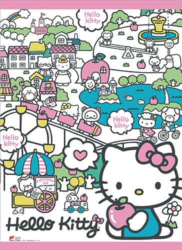 Hello Kitty - Happy Land Wall Scroll, an officially licensed product in our Hello Kitty Wall Scroll Posters department.