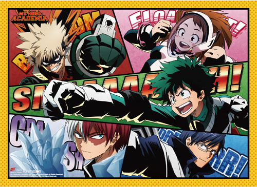 My Hero Academia - Group 1 Wall Scroll, an officially licensed product in our My Hero Academia Wall Scroll Posters department.