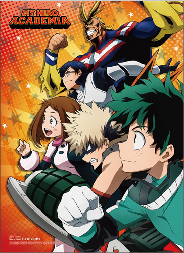 My Hero Academia - Group 02 Wall Scroll, an officially licensed product in our My Hero Academia Wall Scroll Posters department.