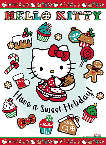Hello Kitty - Sweet Holiday Wall Scroll, an officially licensed product in our Hello Kitty Wall Scroll Posters department.