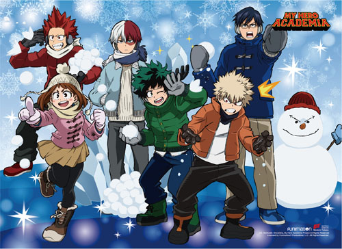 My Hero Academia - S2 Snow Outfits Group Wall Scroll, an officially licensed product in our My Hero Academia Wall Scroll Posters department.