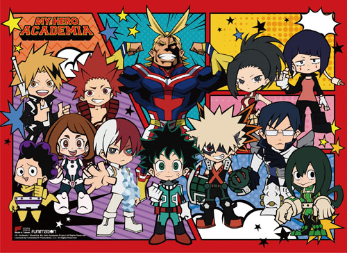 My Hero Academia - Sd Character Group Wall Scroll, an officially licensed product in our My Hero Academia Wall Scroll Posters department.