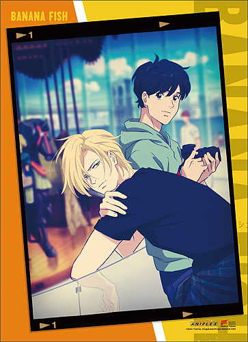 Banana Fish - Ash & Eiji Photo Frame Wall Scroll, an officially licensed product in our Banana Fish Wall Scroll Posters department.
