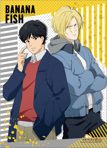 Banana Fish - Ash & Eiji B Wall Scroll, an officially licensed Banana Fish product at B.A. Toys.