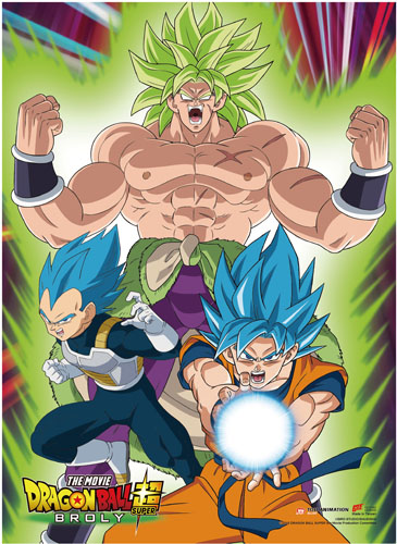 Dragon Ball Super Broly - Group 1 Wall Scroll, an officially licensed product in our Dragon Ball Super Broly Wall Scroll Posters department.