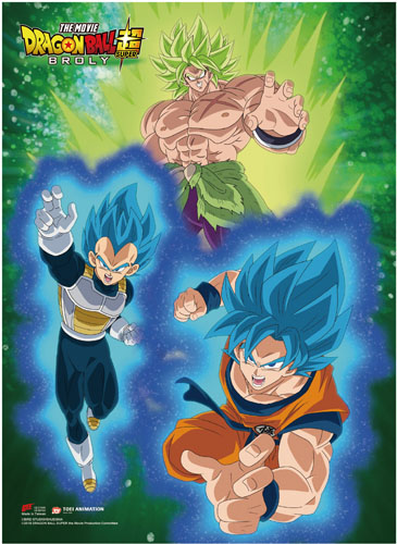 Dragon Ball Super Broly - Group 4 Wall Scroll, an officially licensed product in our Dragon Ball Super Broly Wall Scroll Posters department.