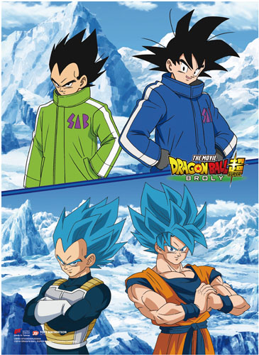 Dragon Ball Super Broly - Goku & Vegeta Wall Scroll, an officially licensed product in our Dragon Ball Super Broly Wall Scroll Posters department.