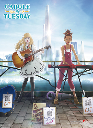 Carole & Tuesday - Key Art Wall Scroll, an officially licensed Carole & Tuesday product at B.A. Toys.