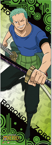 One Piece - Zoro 2017 Human Size Wall Scroll, an officially licensed product in our One Piece Wall Scroll Posters department.