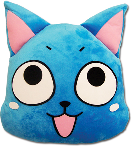 Fairy Tail Happy Face Cushion officially licensed product at B.A. Toys.