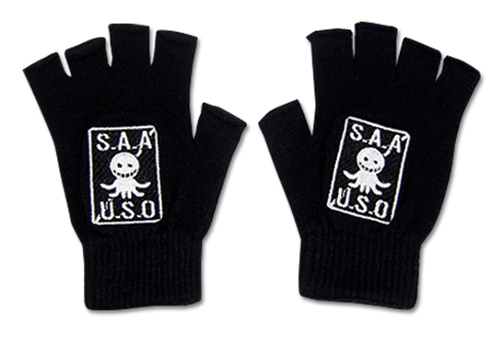 Assassination Classroom - S.A.A.U.S.O. Fingerless Gloves, an officially licensed product in our Assassination Classroom Costumes & Accessories department.