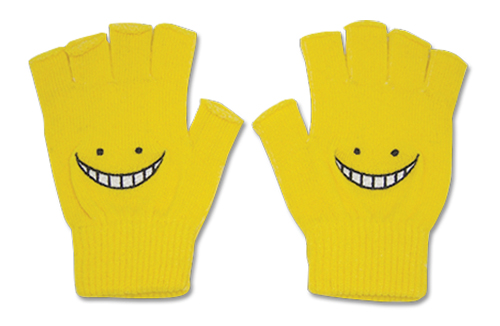 Assassination Classroom - Yellow Koro Sensei Gloves, an officially licensed product in our Assassination Classroom Costumes & Accessories department.