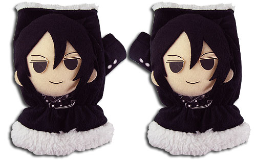 Black Butler - Sebastian Plush Gloves officially licensed Black Butler Costumes & Accessories product at B.A. Toys.