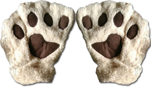Great Eastern - Beige Paw Fingerless Plush Pr Gloves, an officially licensed product in our Great Eastern Costumes & Accessories department.