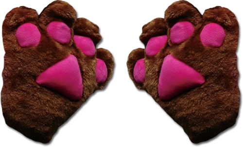 Great Eastern - Dark Brown Paw Plush Glove, an officially licensed product in our Great Eastern Costumes & Accessories department.