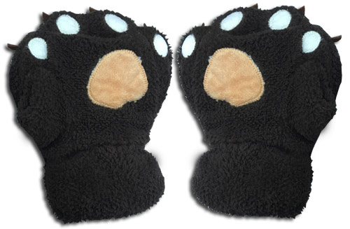 Great Eastern - Dark Brown Paw Plush Gloves, an officially licensed product in our Great Eastern Costumes & Accessories department.