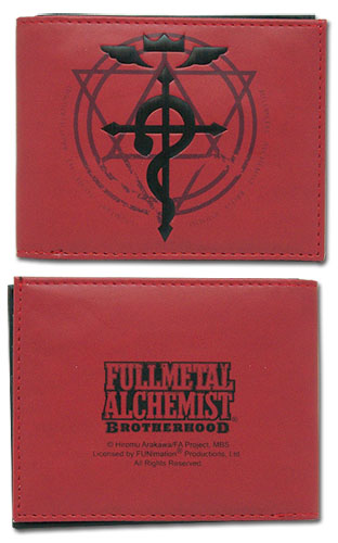 Full Metal Alchemist Brotherhood Flamel Cross Wallet, an officially licensed Full Metal Alchemist Wallet & Coin Purse