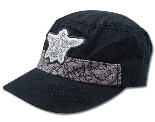 Black Butler Phantomhive Emblem Cadet Cap, an officially licensed Black Butler product at B.A. Toys.