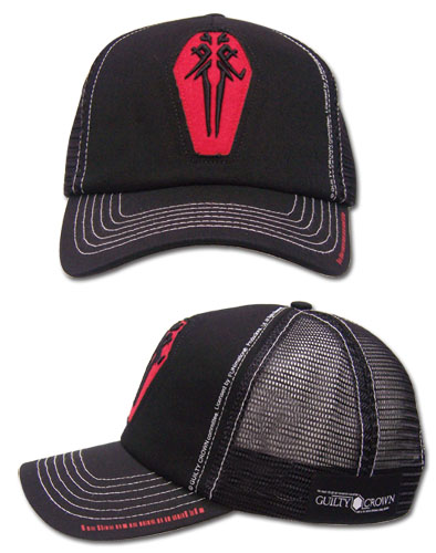Guilty Crown Funeral Parlor Icon Trucker, an officially licensed product in our Guilty Crown Hats, Caps & Beanies department.