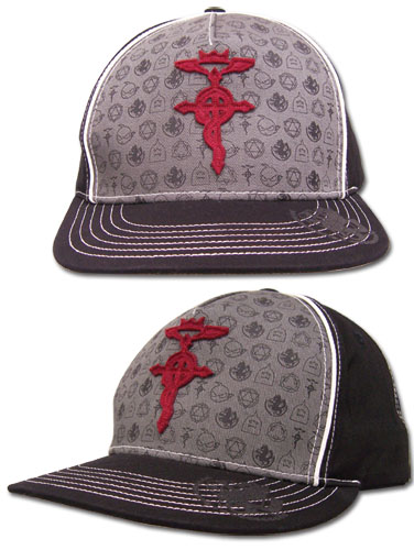 Fullmetal Alchemist Pattern Fitted Cap officially licensed product at B.A. Toys.
