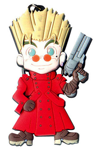 Trigun Vash The Stampede Pvc Key Chain, an officially licensed product in our Trigun Key Chains department.