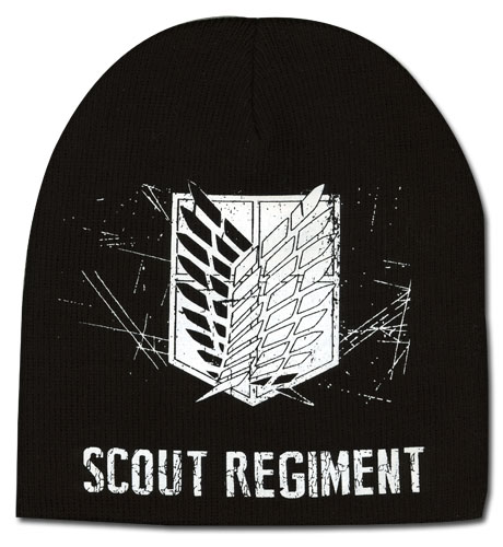 Attack On Titan - Scout Regiment Unfold Beanie, an officially licensed product in our Attack On Titan Hats, Caps & Beanies department.