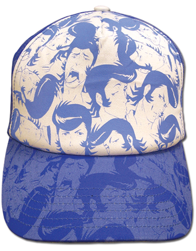 Space Dandy - Blue Dandy Faces Cap, an officially licensed product in our Space Dandy Hats, Caps & Beanies department.