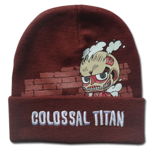 Attack On Titan - Colossal Titan Beanie, an officially licensed product in our Attack On Titan Hats, Caps & Beanies department.