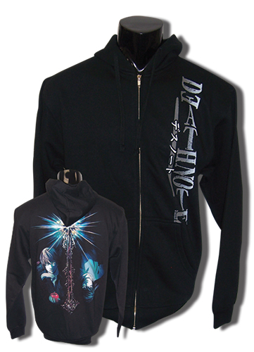 Death Note Logo, Kira, & L Zip Hoodie Xl, an officially licensed Death Note product at B.A. Toys.