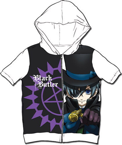 Black Butler - Ciel Sublimated Hoodie M, an officially licensed Black Butler product at B.A. Toys.